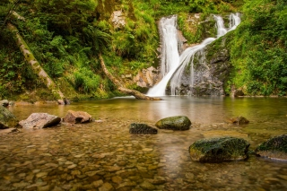 Kostenloses Waterfall in Spain Wallpaper für 480x400