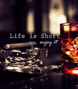 Life is short, so enjoy it Background for Nokia C1-01