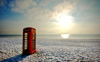 Phone Booth Wallpaper for Android, iPhone and iPad