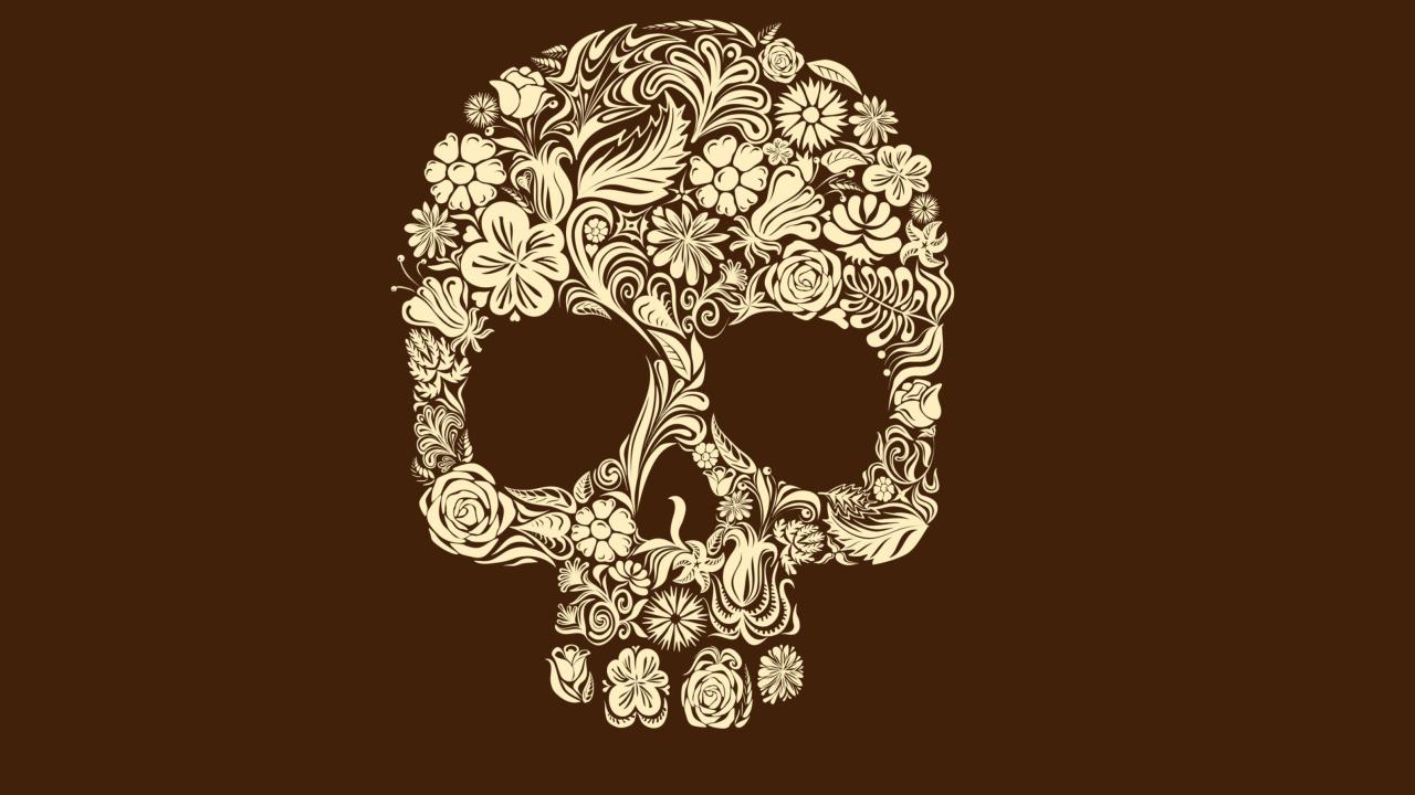 Floral Design Skull