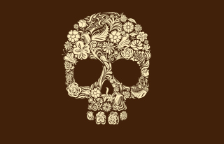 Floral Design Skull Wallpaper for Android, iPhone and iPad