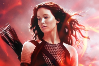 Katniss In The Hunger Games Catching Fire - Obrázkek zdarma pro Motorola DROID