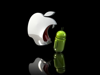 Обои Apple Against Android 320x240