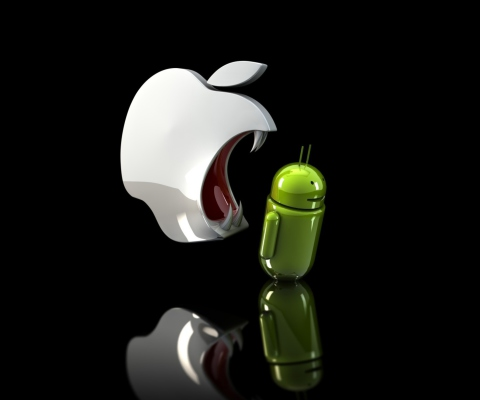 Sfondi Apple Against Android 480x400