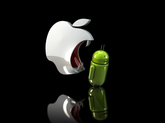 Apple Against Android wallpaper 640x480