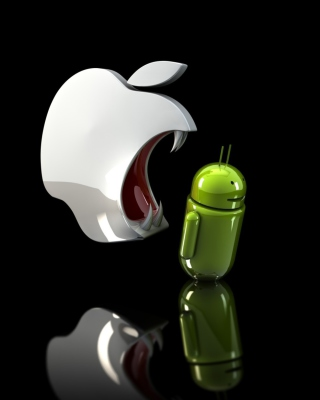 Apple Against Android Background for 128x160