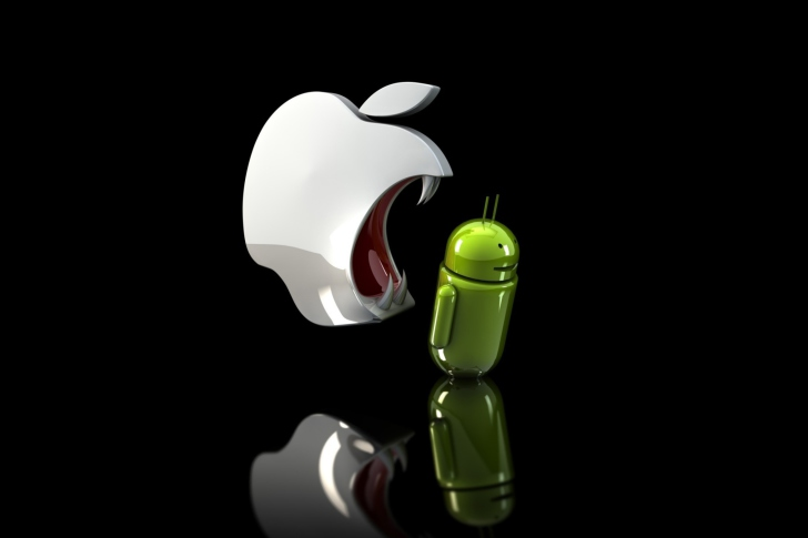 Das Apple Against Android Wallpaper