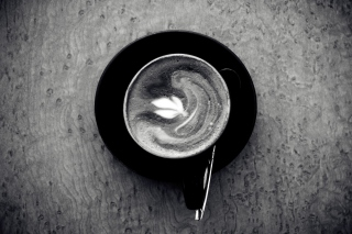 Black And White Coffee Cup - Obrázkek zdarma