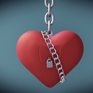 Heart with lock Background for iPad mini