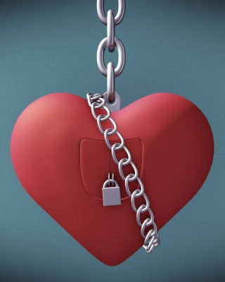 Heart with lock Wallpaper for iPhone 5S
