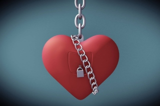 Heart with lock - Fondos de pantalla gratis para HTC One V