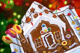 Chocolate Christmas Cake Wallpaper for Android, iPhone and iPad