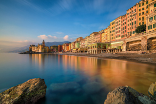Camogli City in Portofino Picture for Android 480x800