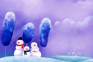 Funny Snowmen sfondi gratuiti per cellulari Android, iPhone, iPad e desktop