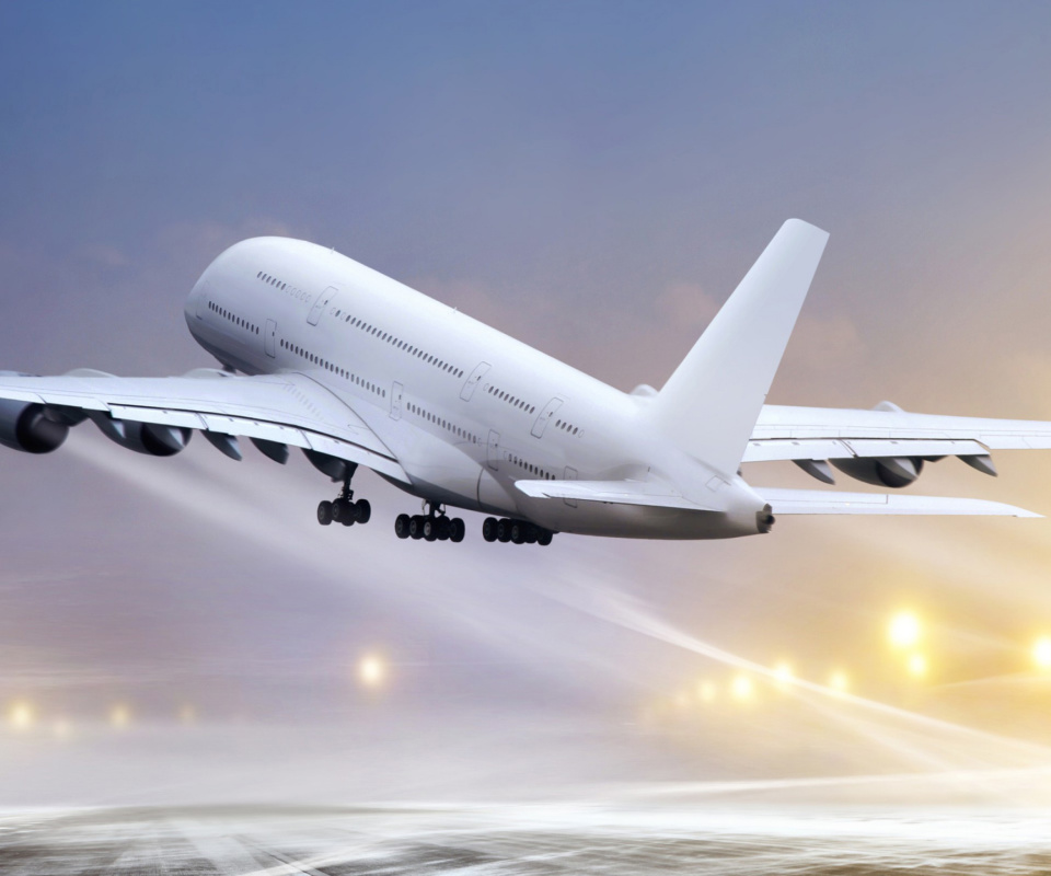 Screenshot №1 pro téma Airbus A380 Take Off 960x800