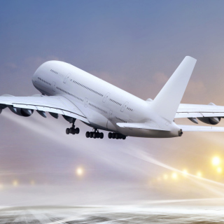 Airbus A380 Take Off Wallpaper for LG KP105