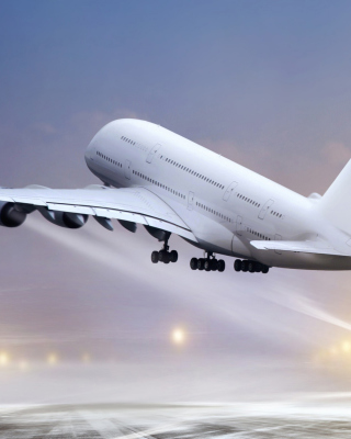 Airbus A380 Take Off sfondi gratuiti per iPhone 6 Plus