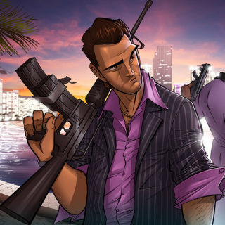 Tommy Vercetti in Grand Theft Auto Vice City - Obrázkek zdarma pro iPad Air