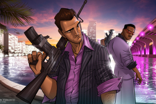 Tommy Vercetti in Grand Theft Auto Vice City - Obrázkek zdarma pro Widescreen Desktop PC 1680x1050