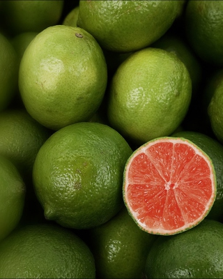 Green Lemons Background for 768x1280