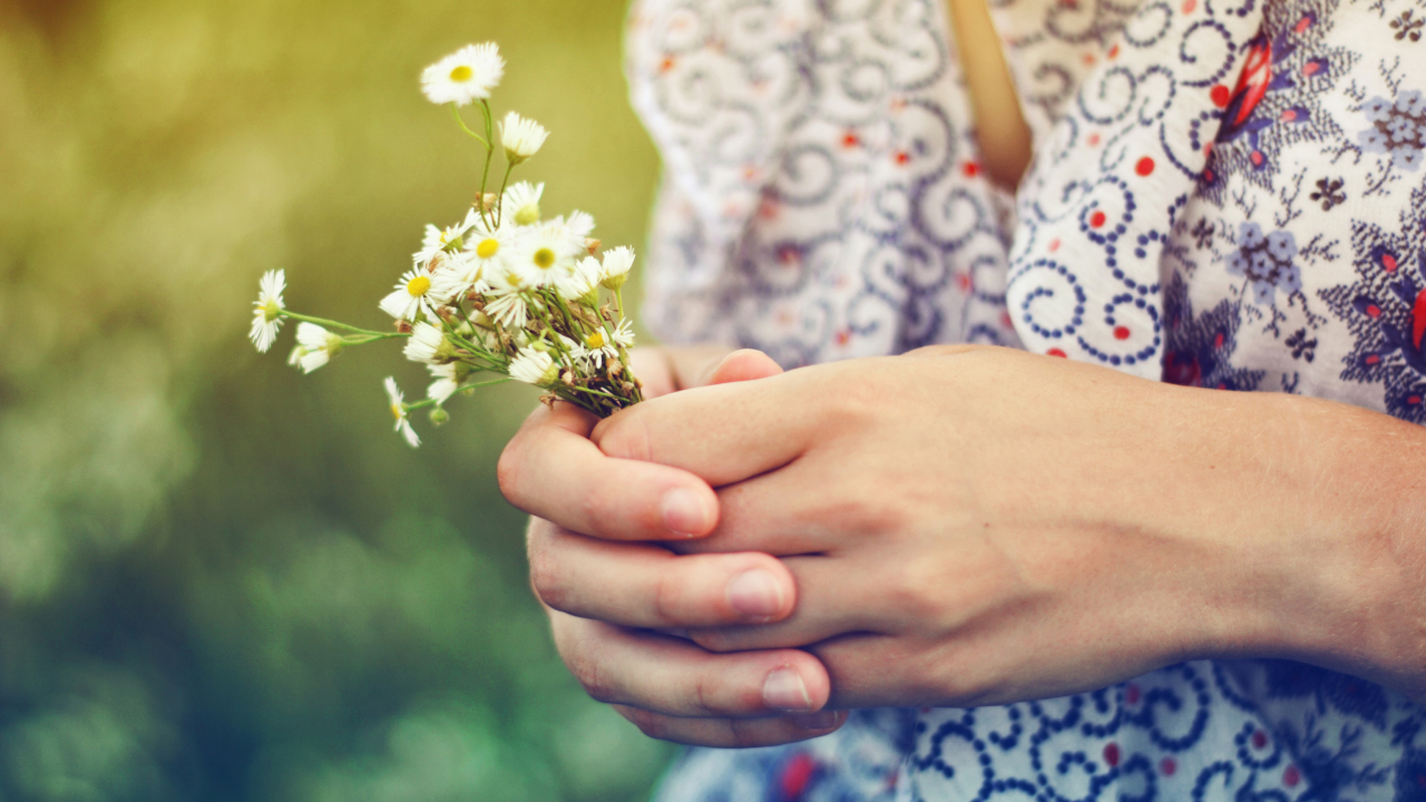 Daisies In Her Hands