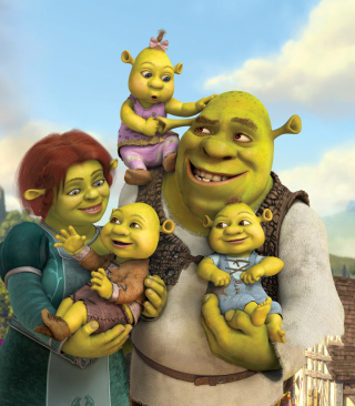 Kostenloses Shrek And Fiona's Babies Wallpaper für Nokia 5800 XpressMusic