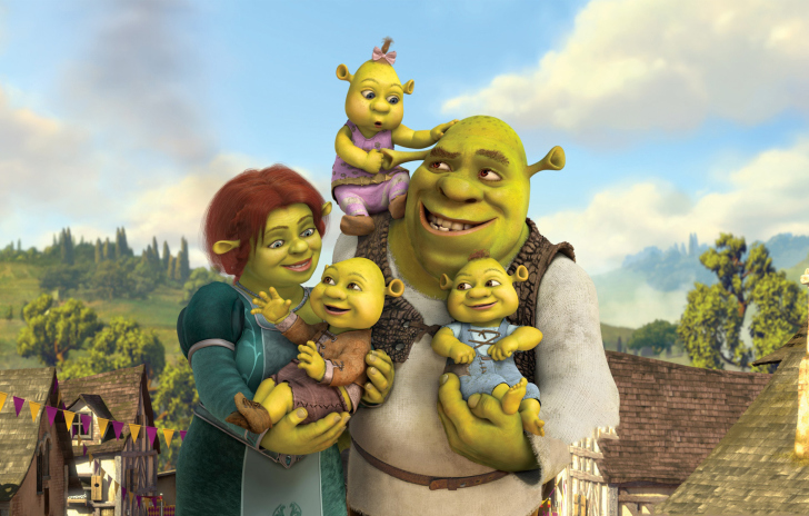 Screenshot №1 pro téma Shrek And Fiona's Babies