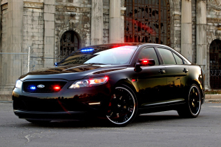 Free Ford Taurus Police Car Picture for Android, iPhone and iPad