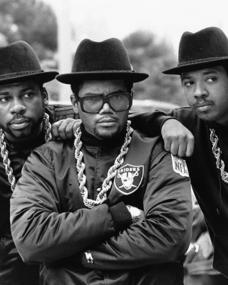Run DMC, Joseph Simmons and Darryl McDaniels Background for 128x160
