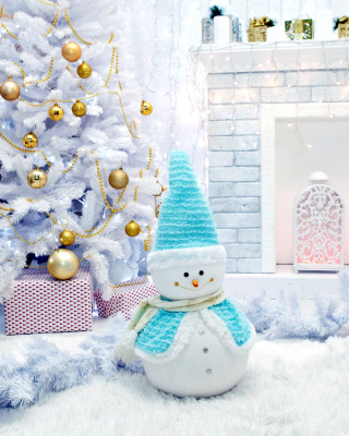 Free Christmas Tree and Snowman Picture for Nokia C2-02