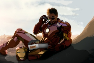 Tony Stark Iron Man papel de parede para celular para Widescreen Desktop PC 1920x1080 Full HD