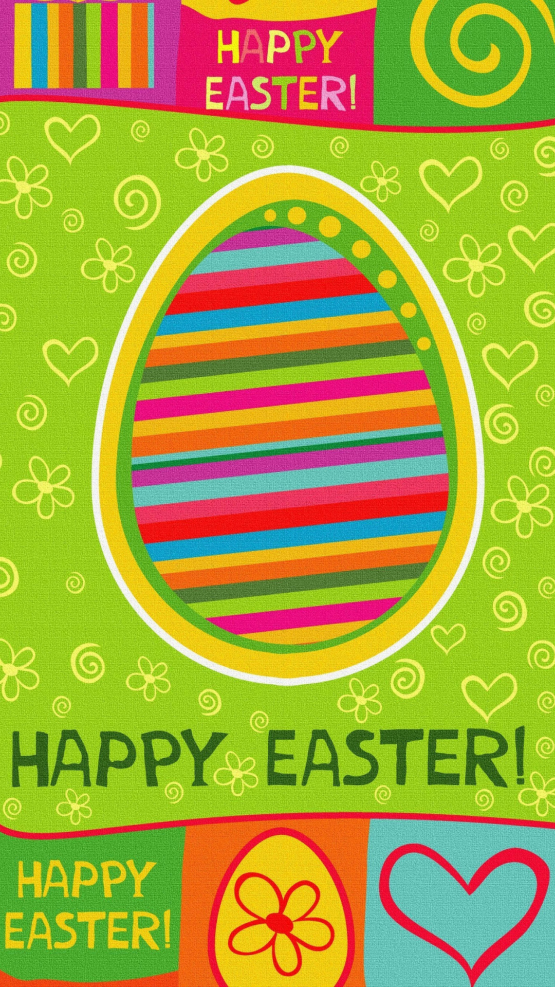 Happy Easter Background wallpaper 1080x1920