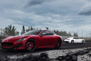Maserati Granturismo Sport Duo Background for Android, iPhone and iPad