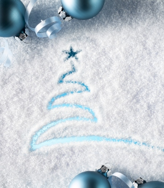 Snowy Christmas Tree Background for 240x400