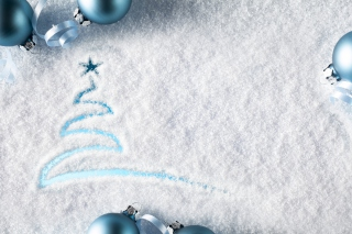 Snowy Christmas Tree Wallpaper for Android, iPhone and iPad