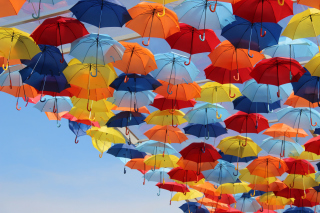 Umbrellas In Sky Picture for Android, iPhone and iPad