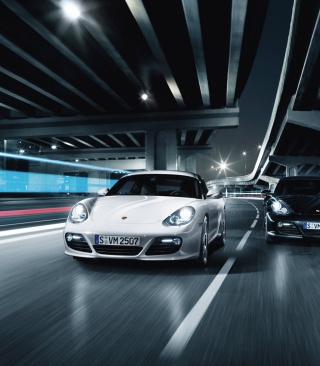 Night Street Racing Wallpaper for Nokia Asha 311
