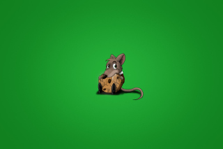 Little Mouse With Cookie Wallpaper for Android, iPhone and iPad