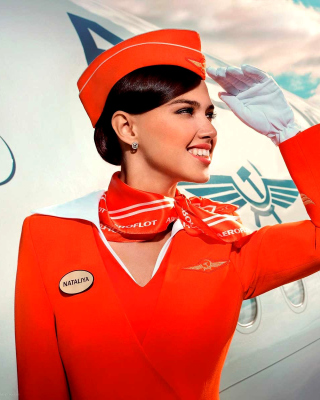 Aeroflot Air Hostess Picture for 240x320