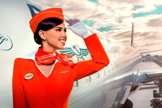 Free Aeroflot Air Hostess Picture for Android, iPhone and iPad