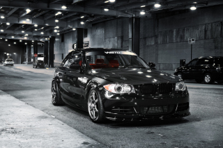 Free BMW 135i Black Kit Tuning Picture for Android, iPhone and iPad