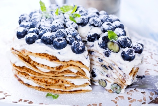 Blueberry And Cream Cake - Obrázkek zdarma