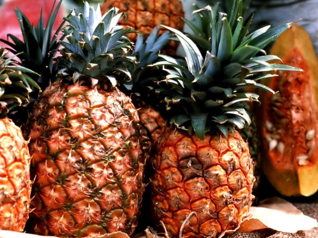 Screenshot №1 pro téma Pineapples 1024x768