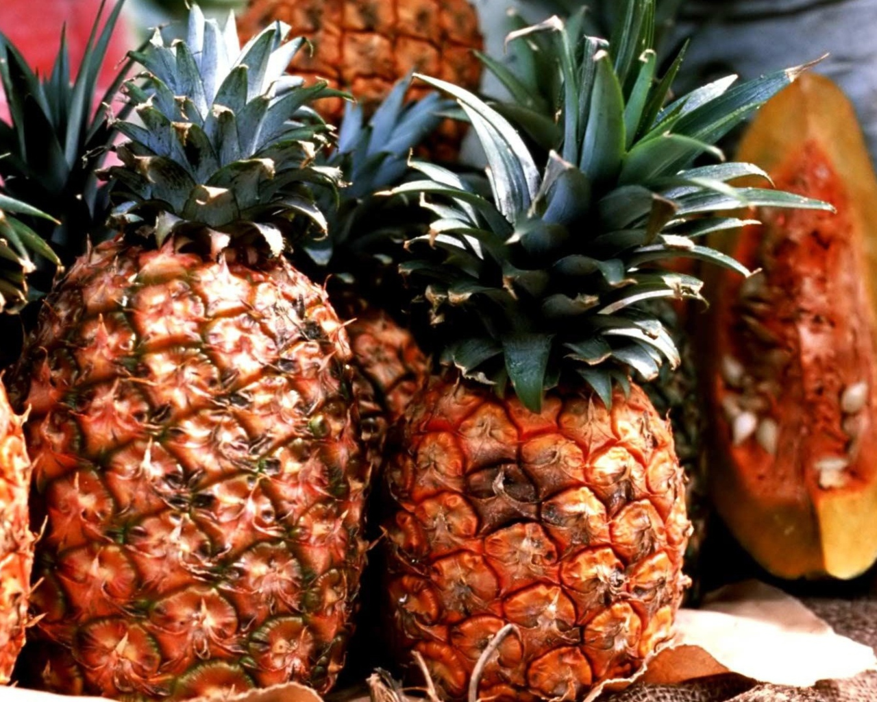 Screenshot №1 pro téma Pineapples 1280x1024