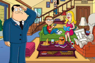 American Dad Cartoon Wallpaper for Fullscreen Desktop 1024x768