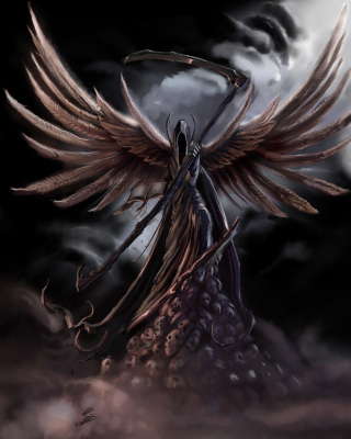 Grim Black Angel sfondi gratuiti per iPhone 5