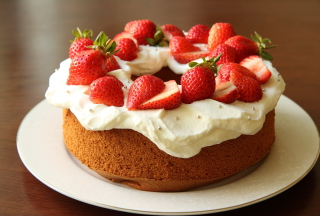 Strawberry Cake Picture for Android, iPhone and iPad