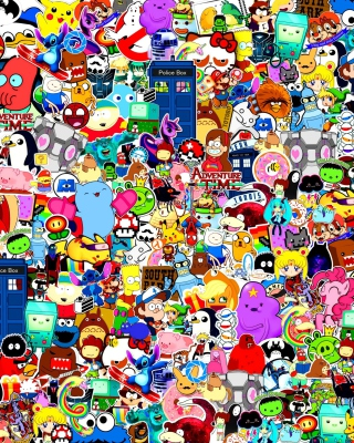 Cartoon Stickers Wallpaper for iPhone 6 Plus
