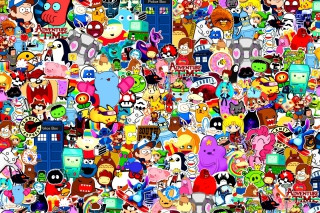 Cartoon Stickers Wallpaper for Android, iPhone and iPad