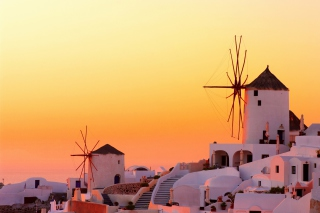 Greece Oia City on Santorini sfondi gratuiti per Samsung Galaxy Pop SHV-E220